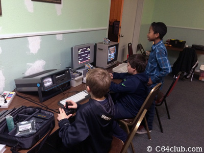 SX-64, Kids playing games - Commodore Computer Club