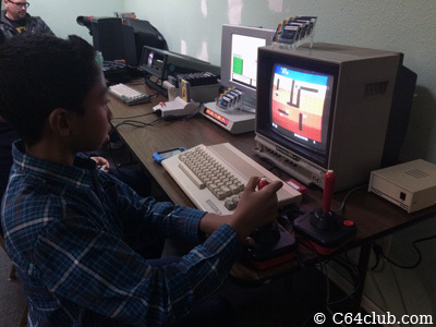 Jaycob playing Dig Dug C64 Game - Commodore Computer Club