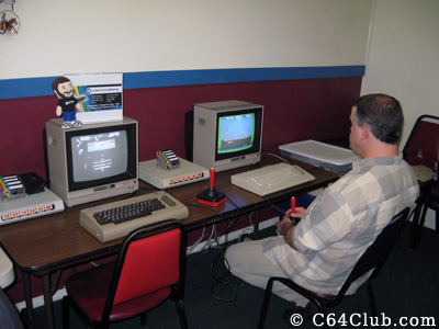 Morgan playing Save New York - Commodore Computer Club