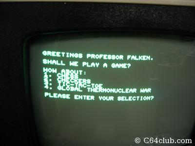 Greetings Professor Falken - Commodore Computer Club