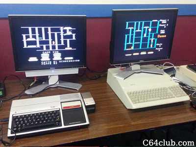 TI-99 and Apple IIe Burger Time Game - Commodore Computer Club