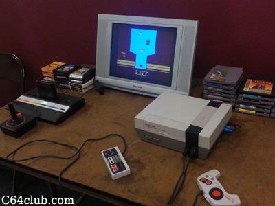 Atari 2600 Jr. River Raid Game, Nintendo NES Tengen Tetris - Commodore Computer Club