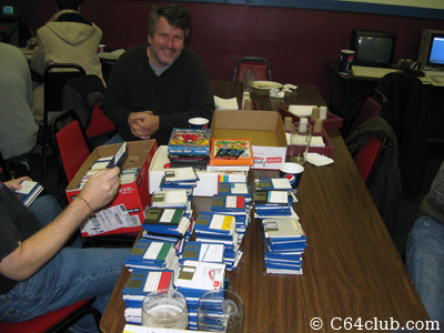 Tom, Rick Weis Pile of Amiga 500 Game Disks - Commodore Computer Club
