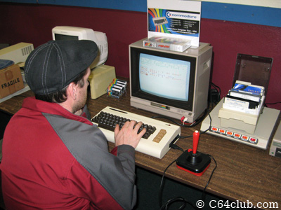 Seth playing on the VIC-20 with Mega-Cart - Commodore Computer Club