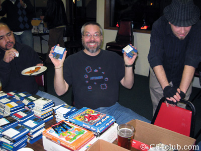 Tom excited with his favorite Amiga 500 game disks - Commodore Computer Club
