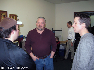 Brandon, Paul, Gregory socializing - Commodore Computer Club
