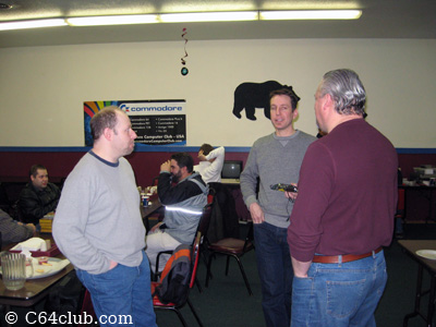 Steve Agent Friday, Greg and Paul chatting - Commodore Computer Club