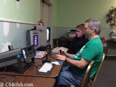 Tommy and Mike playing Tower Toppler C64 Games - Commodore Computer Club
