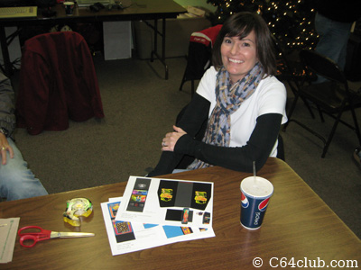 Stacy with coin-op paper crafts - Commodore Computer Club