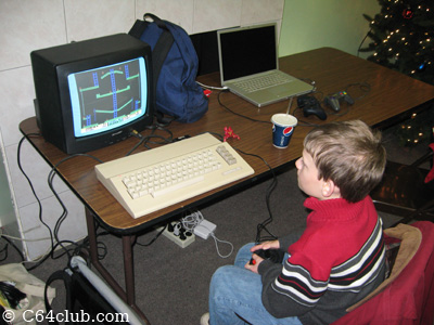 Playing Jumpman Junior on a C64C - Commodore Computer Club