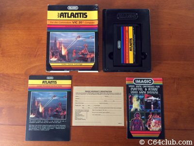 Atlantis by Imagic VIC-20 - Commodore Computer Club