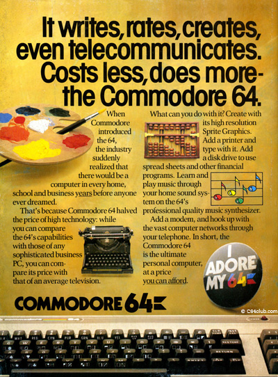 Vintage C64 Advertisement - Commodore Computer Club
