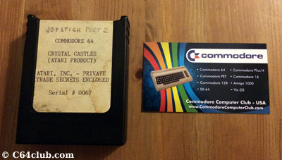 C64 Crystal Castles Prototype Serial #0067 - Commodore Computer Club