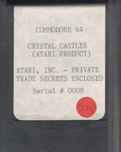 C64 Crystal Castles Prototype Serial #0008 - Commodore Computer Club